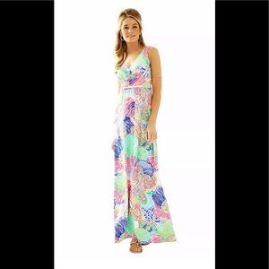 🌴Lilly Pulitzer Sloan V-Neck Maxi Dress Size S